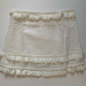 American Threads Tassel White Skirt